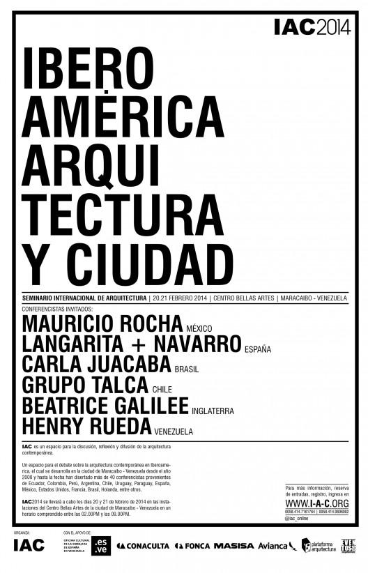 52ea7578e8e44e3e38000134_seminario-internacional-de-arquitectura-en-maracaibo-sorteamos-2-entradas-_arte_afiche_iac2014_ene2014_-1--528x822