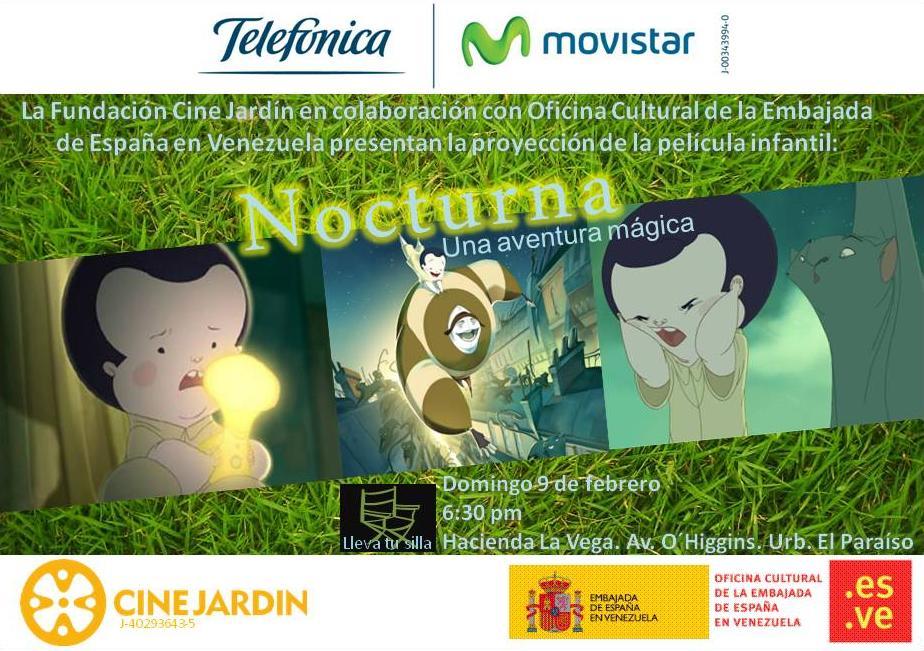 Invitacion Nocturna - Cine Jardín Hacienda La Vega