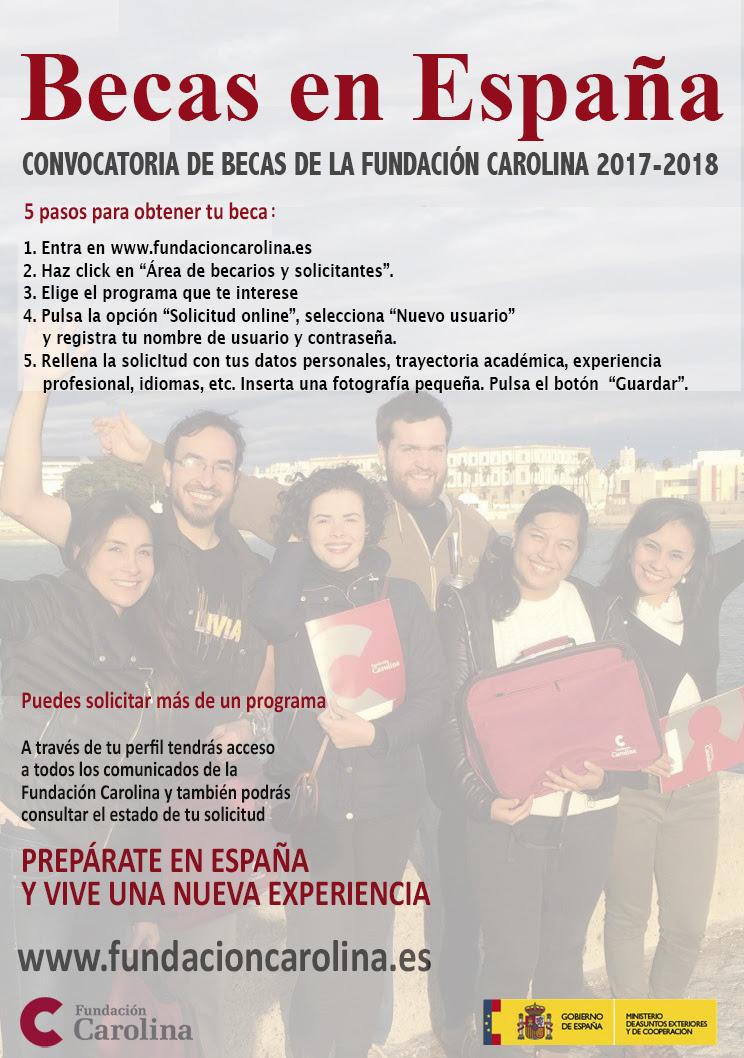 Fundación Carolina: Becas de Estudios en España curso 2017/18 ...