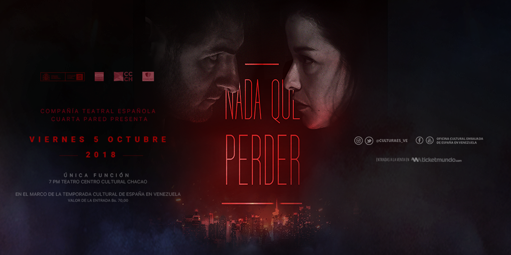 """05/10>>TEATRO>> """"NADA QUE PERDER"""">> COMPAÑÍA CUARTA PARED>> TEATRO ..."""